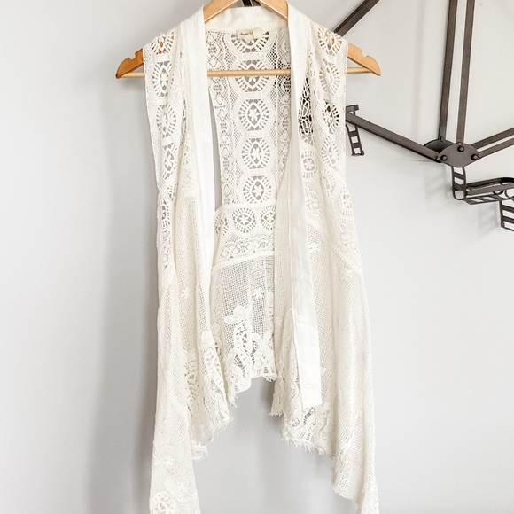Meadow Rue from Anthropologie Lace Vest